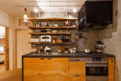 モールテックスで仕上げたキッチン 2020/01 mogumi様