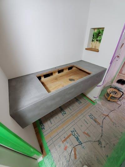 柔らかみと落ち着きのある洗面台をモールテックスで